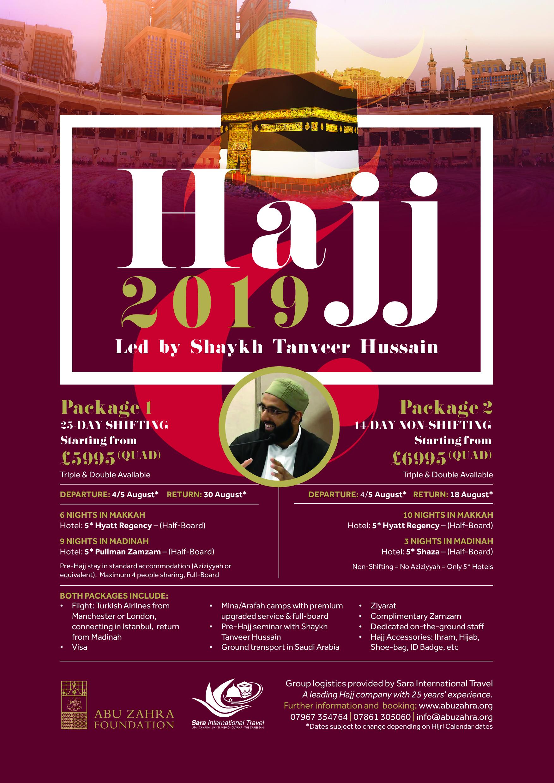 Hajj 2019 with Shaykh Tanveer Hussain | Abu Zahra Foundation